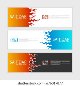 Flames (Fire). abstract design banner template.vector illustration