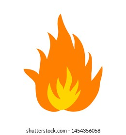 Flames fire icon. flat illustration of Flames fire. vector icon. Flames fire sign symbol