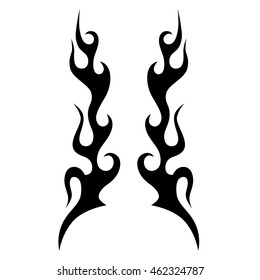 flames vector icon illustration
