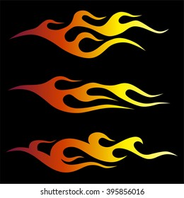 flames vector, sticker on board side the racing car, flame tribal, fire motorcycle vector, background isolated sketch on the car or motorcycle,