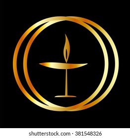 The Flaming Chalice- the symbol of Unitarianism and Unitarian Universalism