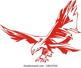 Flaming Eagle vector illustration, great for vehicle graphics, stickers and T-shirt designs. Ready for vinyl cutting.