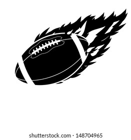 Flaming Football. EPS 10 vector, grouped for easy editing. No open shapes or paths.