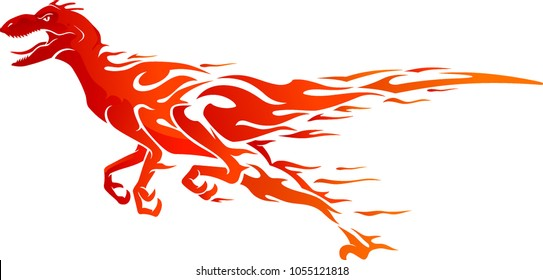 Flaming Raptor Side View