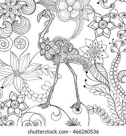 flamingo fantasy flower garden animals 260nw