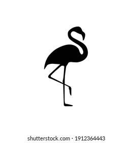 Flamingo flat icon. vector illustration