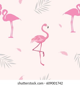 Flamingo seamless pattern