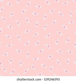 Flamingo. Vector pattern