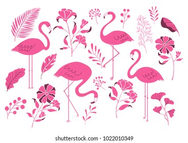 Flamingos and plants icons?