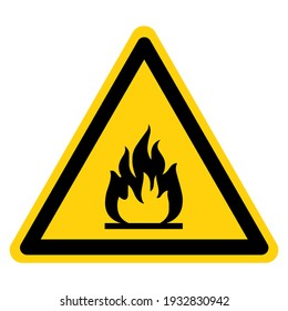 Flammable Area Symbol Sign ,Vector Illustration, Isolate On White Background Label. EPS10