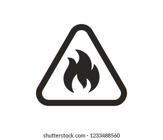 Flammable flame icon sign symbol