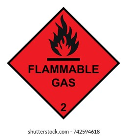 Flammable gas Diamond With Flames Symbol