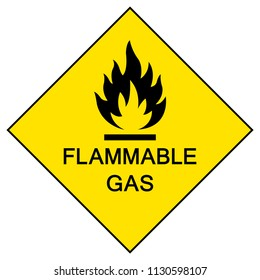 Flammable Gas Symbol Sign,Vector Illustration, Isolate On White Background Labels, Icon. EPS10
