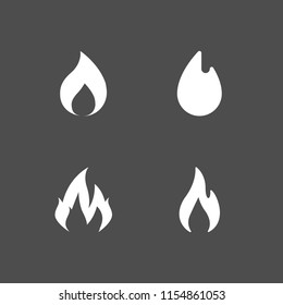 flammable icon. 4 flammable set with flame and fire vector icons for web and mobile app