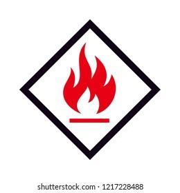 Flammable Icon Logo