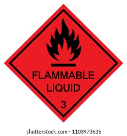 Flammable Liquid Symbol,Vector Illustration, Isolate On White Background Icon. EPS10