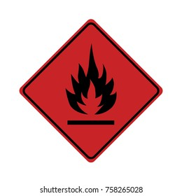 Flammable sign on white background ,vector illustration.