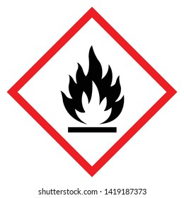 Flammable Symbol Sign ,Vector Illustration, Isolate On White Background Label .EPS10
