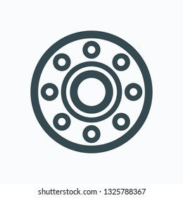 Flange icon, stainless steel flange vector icon