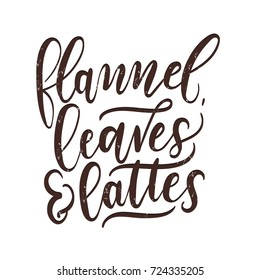 Fall quote images stock photos vectors shutterstock flannel leaves and lattes fall inspirational print thanksgiving lettering card hand drawn motivational m4hsunfo