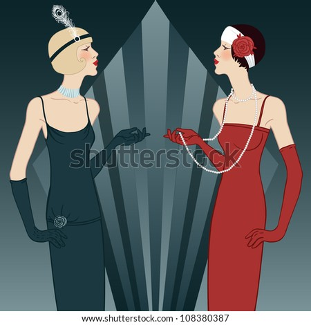 Flapper girls series Retro