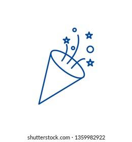 Flapper,petard line icon concept. Flapper,petard flat  vector symbol, sign, outline illustration.
