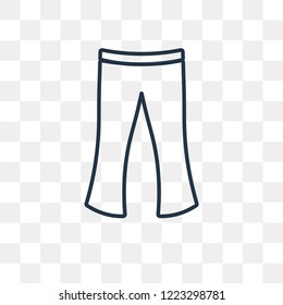 Flare Pants vector outline icon isolated on transparent background, high quality linear Flare Pants transparency concept can be used web and mobile