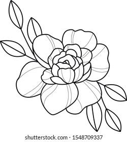 flash art work rose decorative element