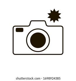 Flash camera icon in trendy flat style isolated. Illustration eps 10.