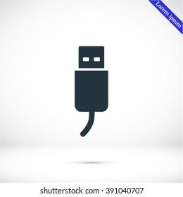 flash drive vector icon