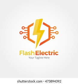 Flash Electric Logo Template