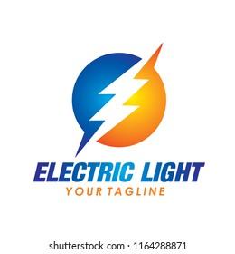 Flash Electric Logo Vector Bolt Energy Icon