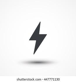 Flash icon. Bolt of lightning vector. Lightning illustration. Streak of lightning sign. Electric bolt flash icon. Lightning design element. Thunder strike logo. Charge flash icon. Thunderbolt icon