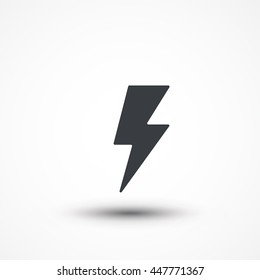 Flash icon. Bolt of lightning vector. Lightning illustration. Streak of lightning sign. Electric bolt flash icon. Thunder strike logo. Charge flash icon. Thunderbolt icon
