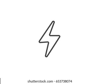 bolt of lightning vector lightning illustration streak of lightning sign