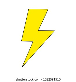 Flash icon, energy power vector isoluted on the white background