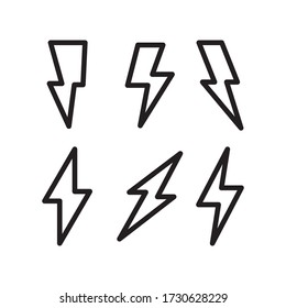 flash icon line art design
