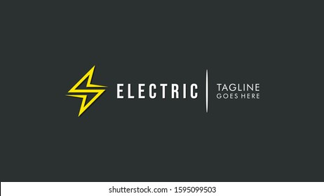 Flash Icon Thunder Bolt Letter S Electricity Logo. Flat Vector Logo Design Template Element