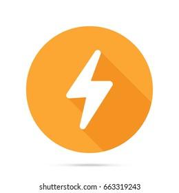 Flash icon. Thunderbolt icon. Bolt of lightning vector. Lightning illustration. Streak of lightning sign. Electric bolt flash icon. Lightning design element. Thunder strike logo. Charge flash icon.