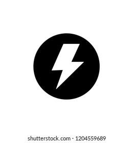 Flash icon vector