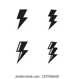 Flash icon vector.