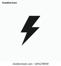 Flash icon vector. Light sign