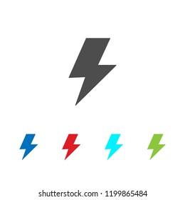 Flash icon vector, Lightning sign
