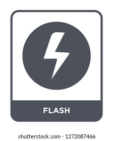 flash icon vector on white background, flash trendy filled icons from Electronic stuff fill collection, flash simple element illustration