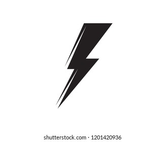 Flash lightning logo black vector