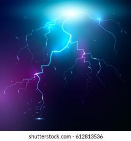 Flash of lightning. Vector illustration