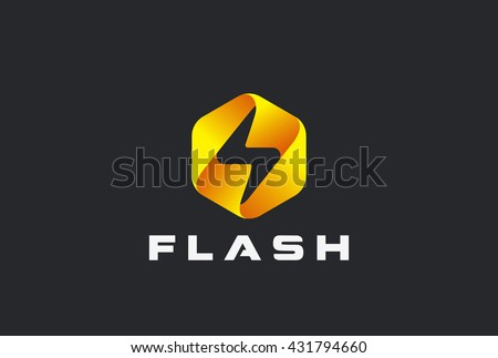Flash logo abstract design vector template stock vektorgrafik