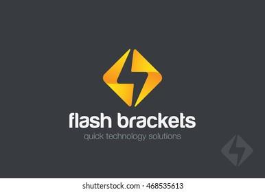 Flash Logo design vector template. Energy Power Speed Logotype concept icon.