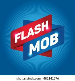 FLASH MOB arrow tag sign.
