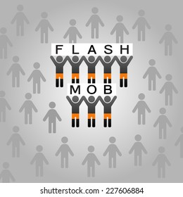 Flash mob vector illustration